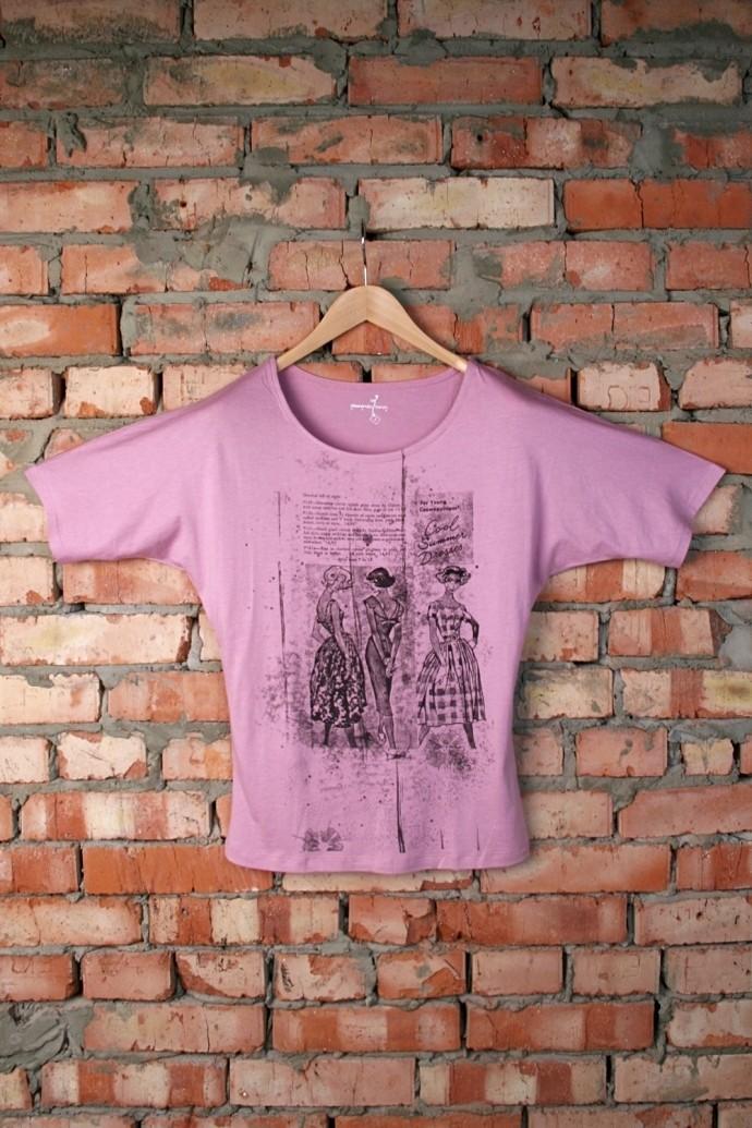 Женская футболка с рисунком Мода
