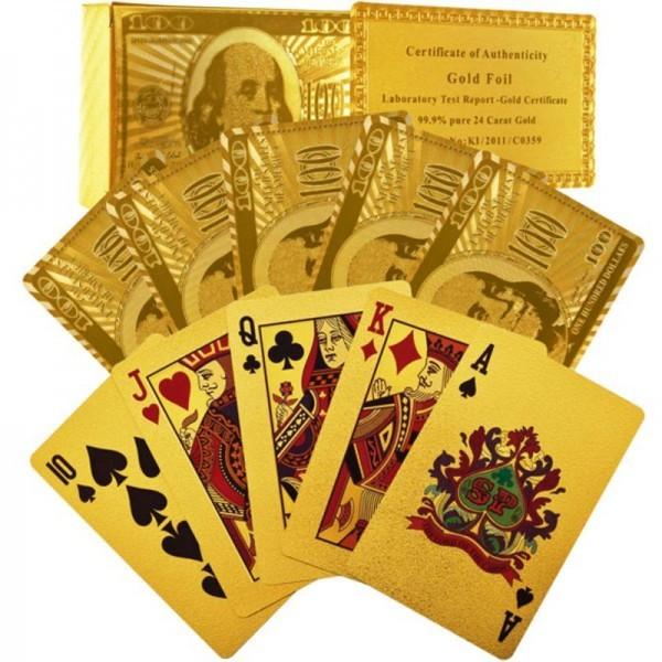 Набор карт, золотое фольгирование