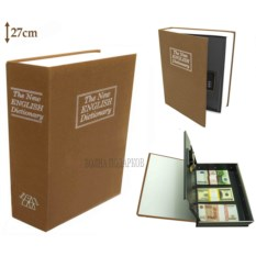 Книга-сейф с замком The new english dictionary Gold (27 см)
