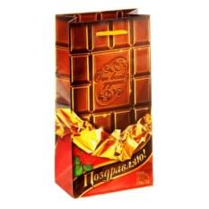Подарочный пакет в виде плитки шоколада Поздравляю