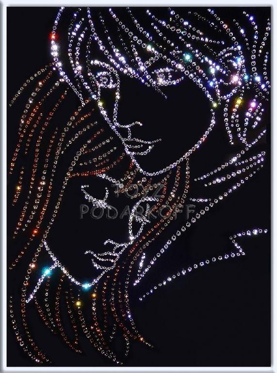 Картина с кристаллами Swarovski  Ты и я