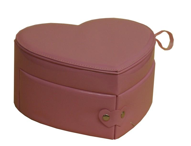 Шкатулка для украшений Розовое сердце
