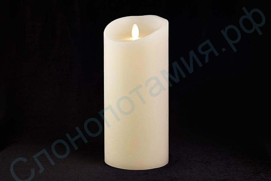 Светодиодная восковая свеча, 12 см