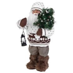 Новогоднее украшение Дед Мороз с елочкой и фонариком