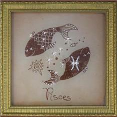Картина Рыбы малые (с кристаллами Сваровски)