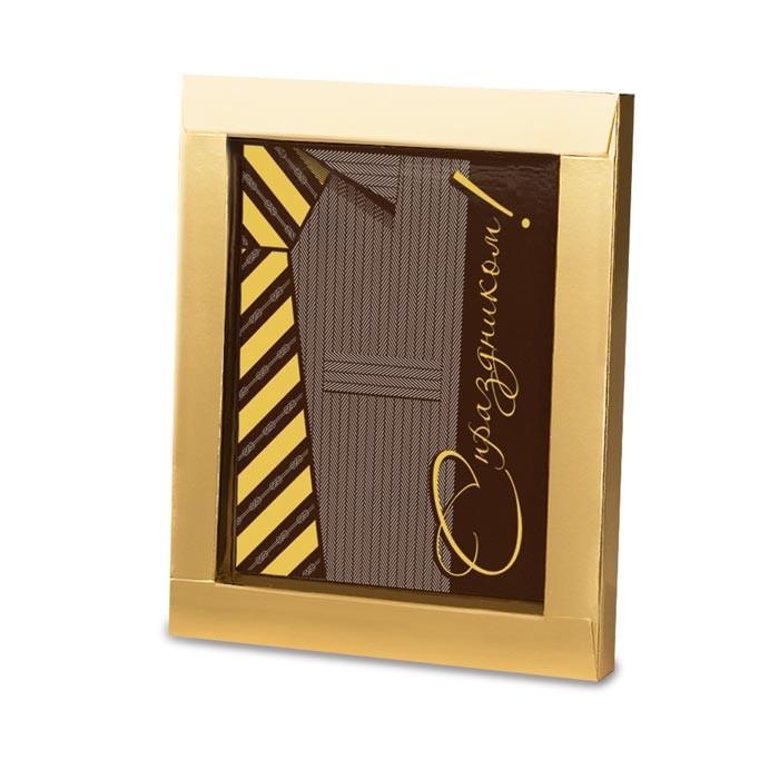 Шоколадная открытка С праздником