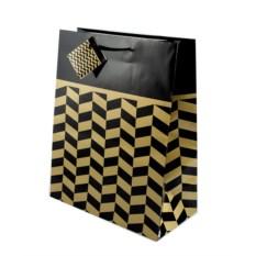 Бумажный ламинированный пакет (цвет — черный)