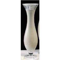 Белая декоративная ваза Dea