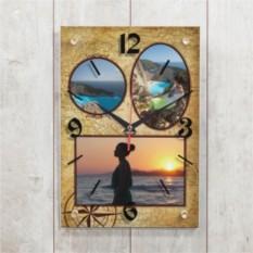 Настенные часы Время путешествовать