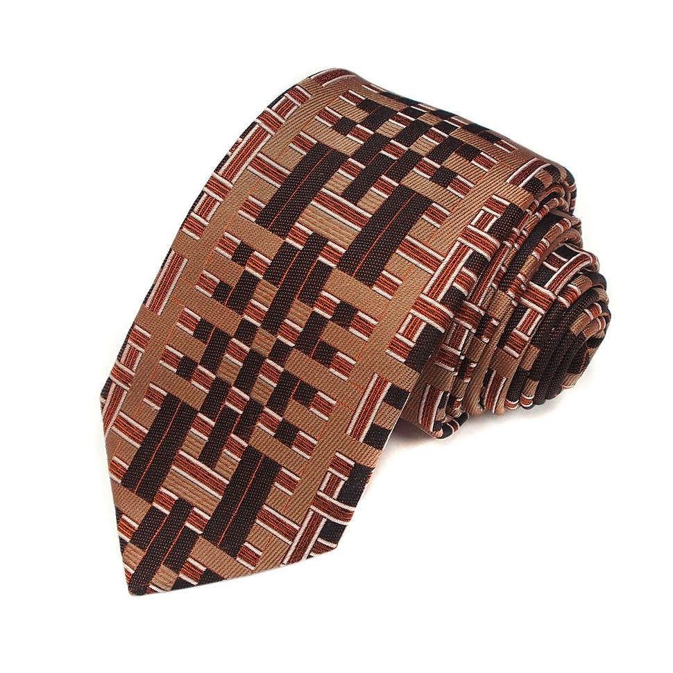 Галстук в коричневых тонах Christian Lacroix