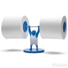 Держатель для туалетной бумаги Mr.t синего цвета