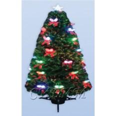 Оптоволоконная искусственная елка с шишками