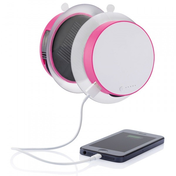 Зарядное солнечное оконное устройство Port, розовое