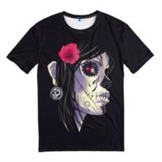Мужская черная футболка День мертвецов