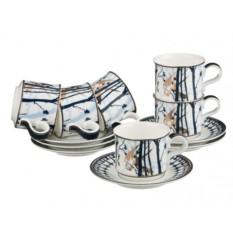 Кофейный набор на 6 персон Porcelain Manufacturing