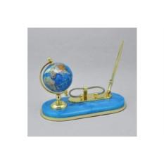 Голубой настольный письменный набор с глобусом Gift