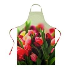 Фартук с 3D-рисунком Букет тюльпанов