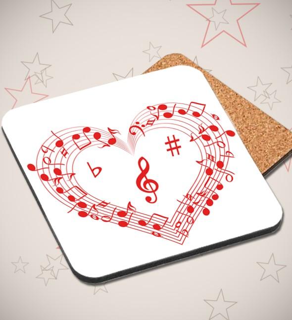Подставка под кружку Любовь к музыке