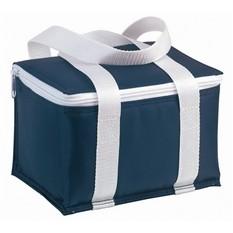 Синяя сумка-холодильник на 6 банок