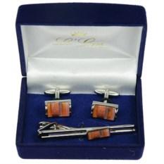 Подарочный набор Brian (запонки и зажим для галстука)