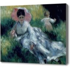 Репродукция картины Ренуар Женщина с зонтом и ребенок