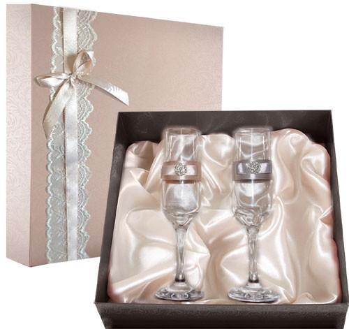 Набор свадебных бокалов №33 в подарочной коробке