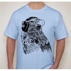 Мужская футболка Орел в наушниках