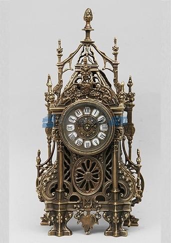 Часы из бронзы Севилья, цвет каштановый