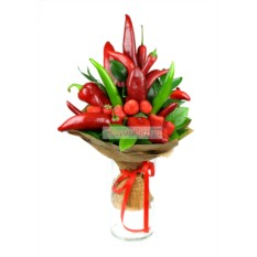 Букет из фруктов и овощей The red