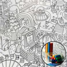 Плакат-раскраска Мой город