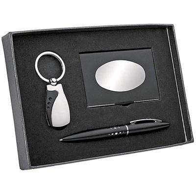Подарочный набор из 3-х предметов серебристо-черного цвета