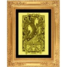 Картина из золота Близнецы