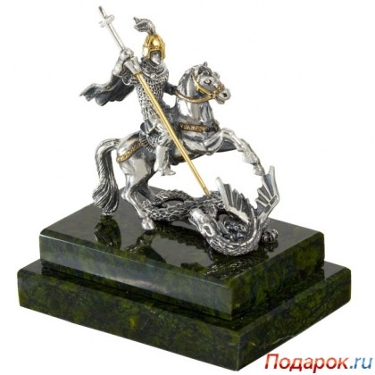 Серебряная статуэтка «Георгий Победоносец»