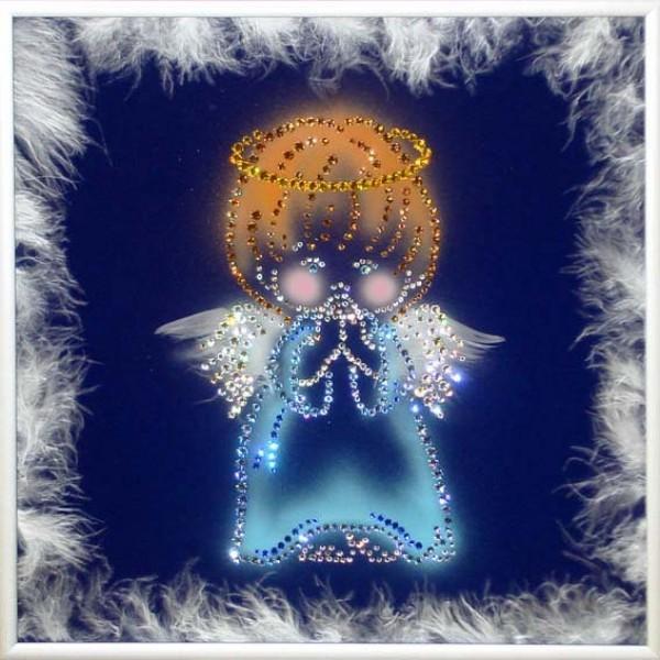 Картина с кристаллами Swarovski Ангел Хранитель