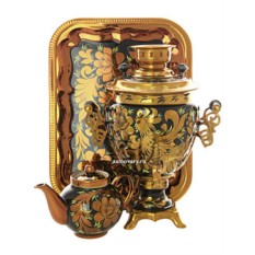 Набор с самоваром на 3 литра Золотая кудрина