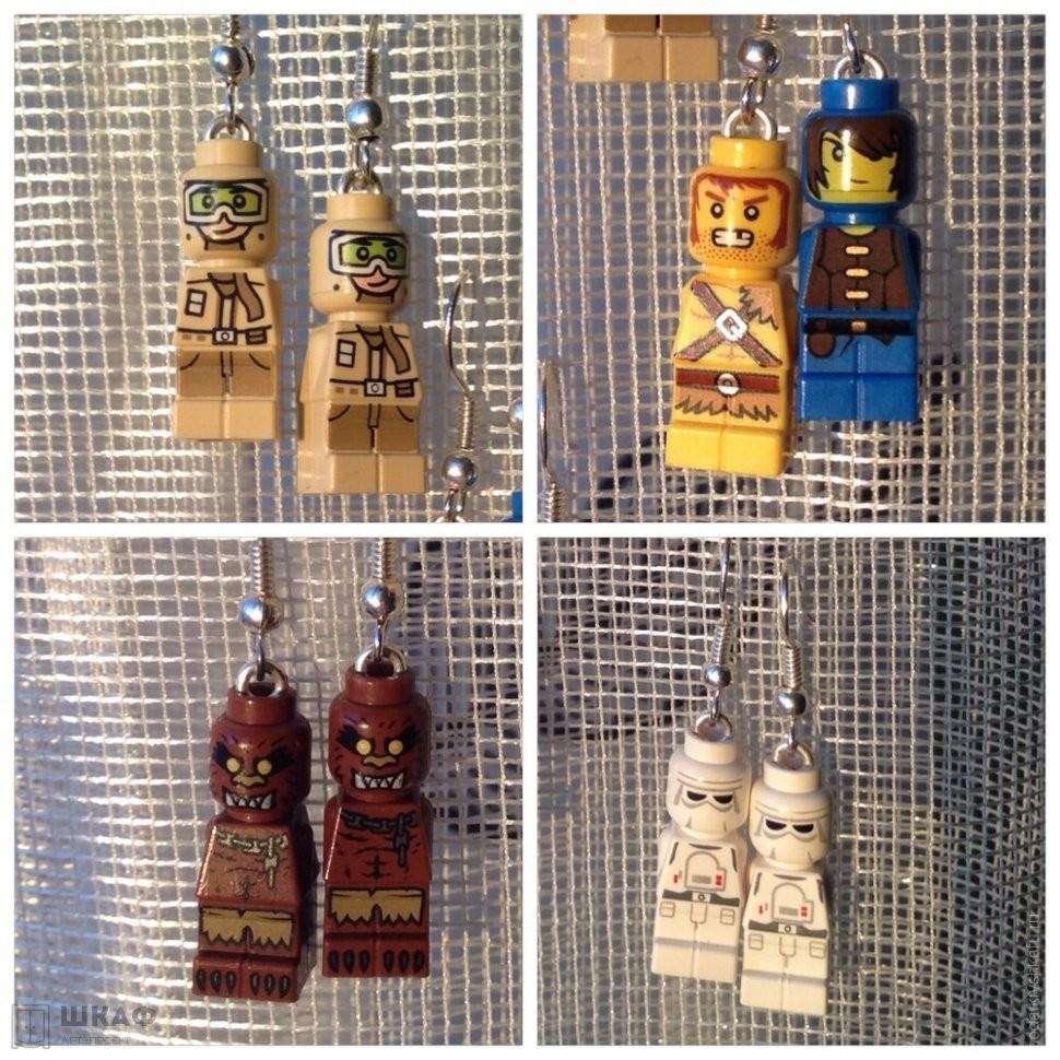 Сережки Лего