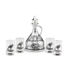 Подарочный набор для водки 5 предметов Марийский лес