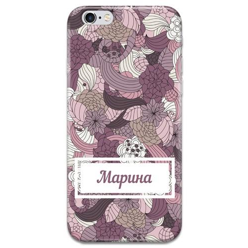 Именной чехол для iPhone «Пурпур»