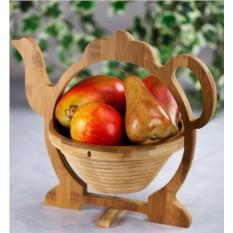 Фруктовница из бамбука «Чайник»