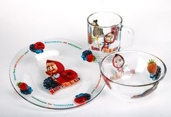 Набор детской посуды Маша и Медведь. Малинка 3 предмета