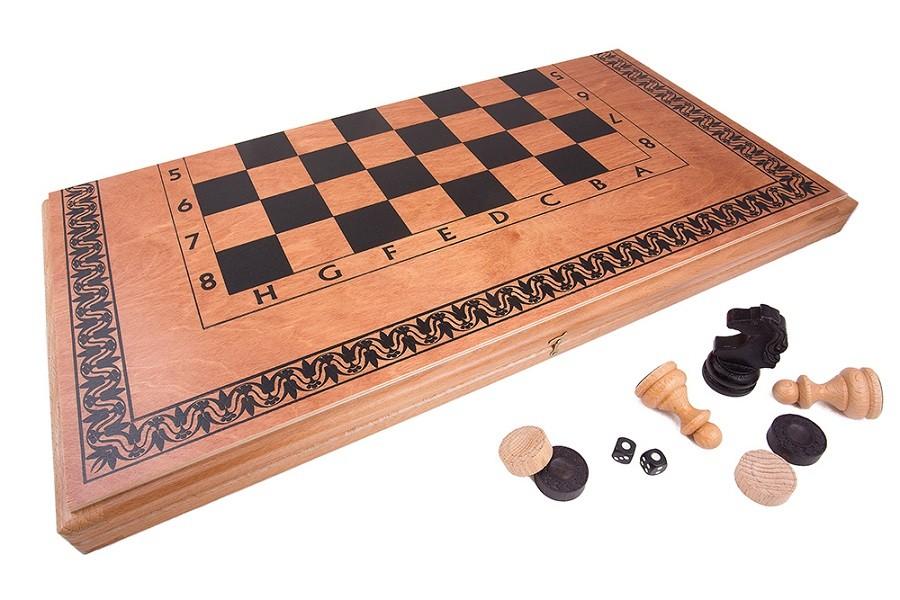 Набор 3 в 1: Нарды, Шахматы, Шашки