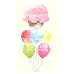 Букет «С Днем Рождения - Мороженое»