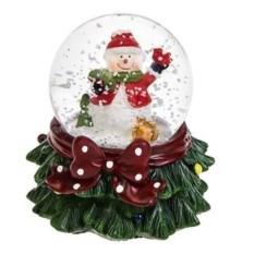 Светящийся шар со снегом Снеговик