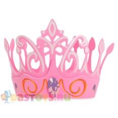 Детская розовая корона с драгоценным камнем