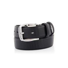 Черный мужской кожаный ремень тип 98-3