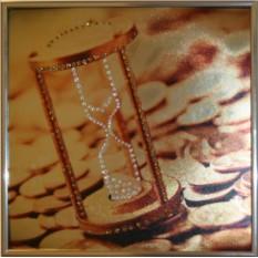 Картина с кристаллами Сваровски Время-деньги