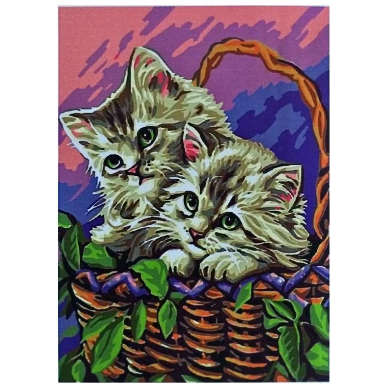 """Картина-раскраска по номерам на холсте """"В корзинке ..."""