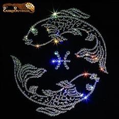 Картина Swarovski Танец ажурных рыб
