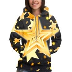 Женская толстовка 3D Желтые звезды