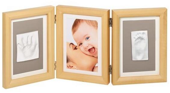 Фоторамка со слепков тройная (деревянная) Baby art
